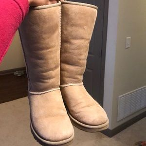 Worn tall ugg boots- slight discolorations